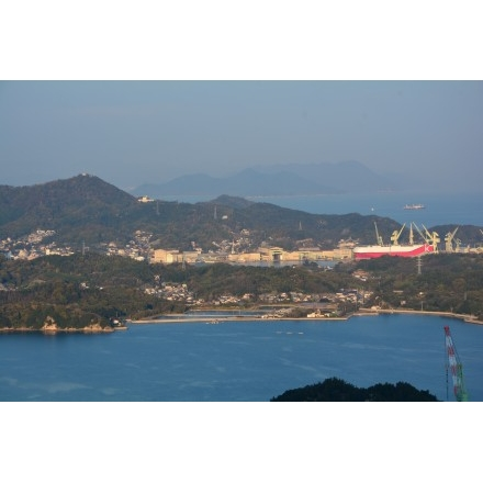 岩城島から見る生名島・因島:写...