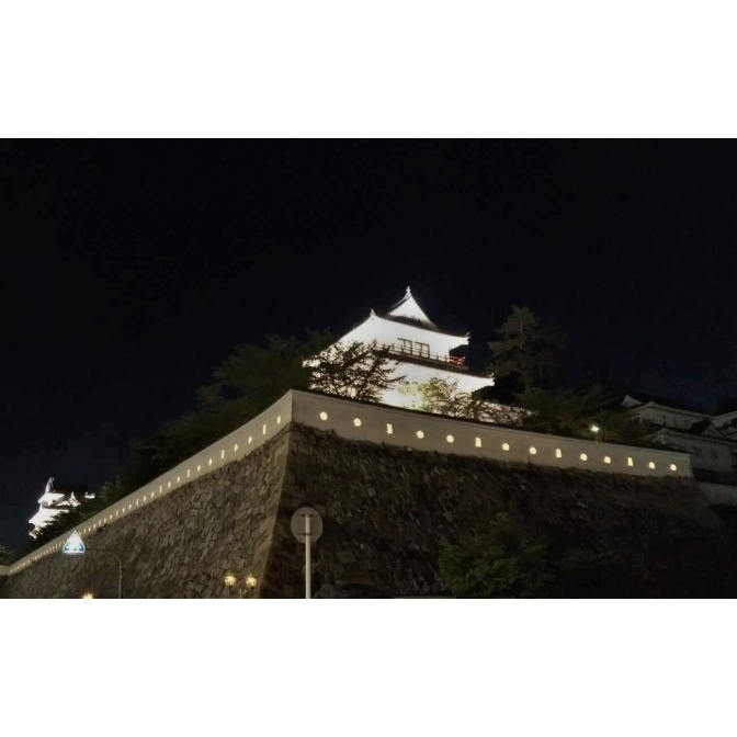 福山城伏見櫓等のライトアップ